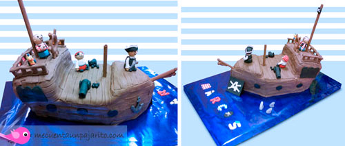 kit de fiesta de cumpleaños pirata, Tarta barco del pirata