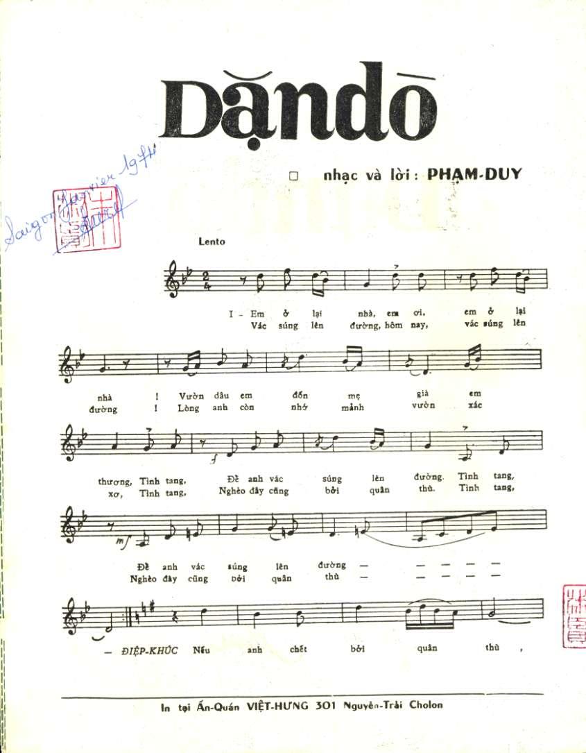 Dặn Dò - Phạm Duy