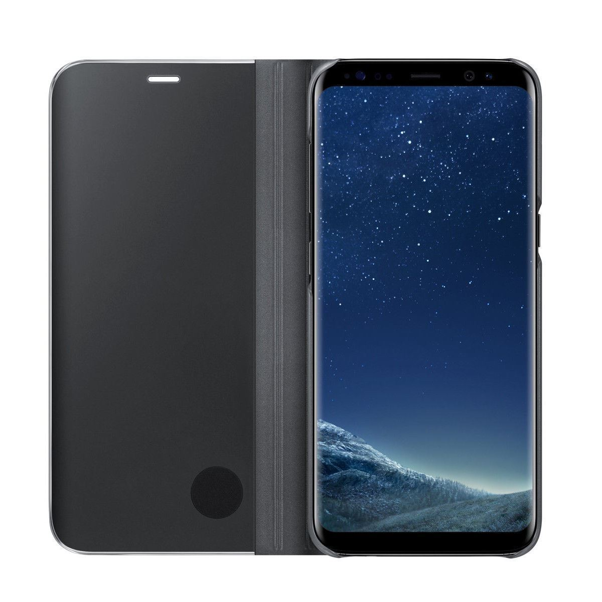 thumbnail 17 - For-Samsung-Galaxy-S9-S10-Plus-Smart-View-Mirror-Leather-Flip-Stand-Case-Cover