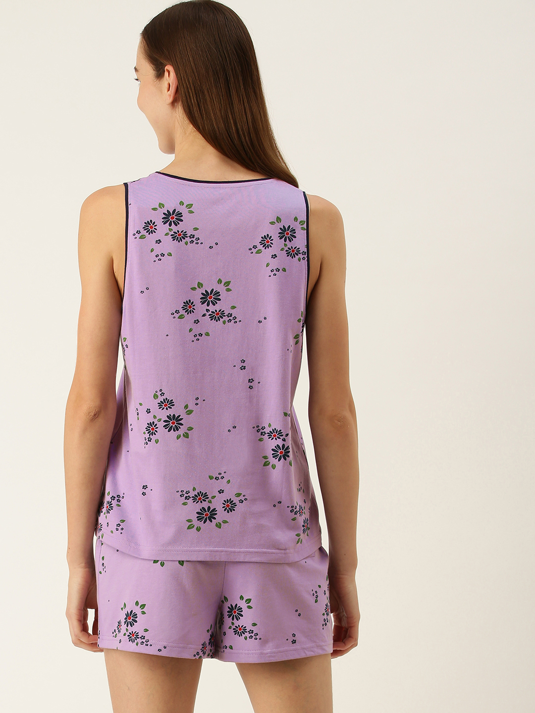 Slumber Jill Lavender shorts set