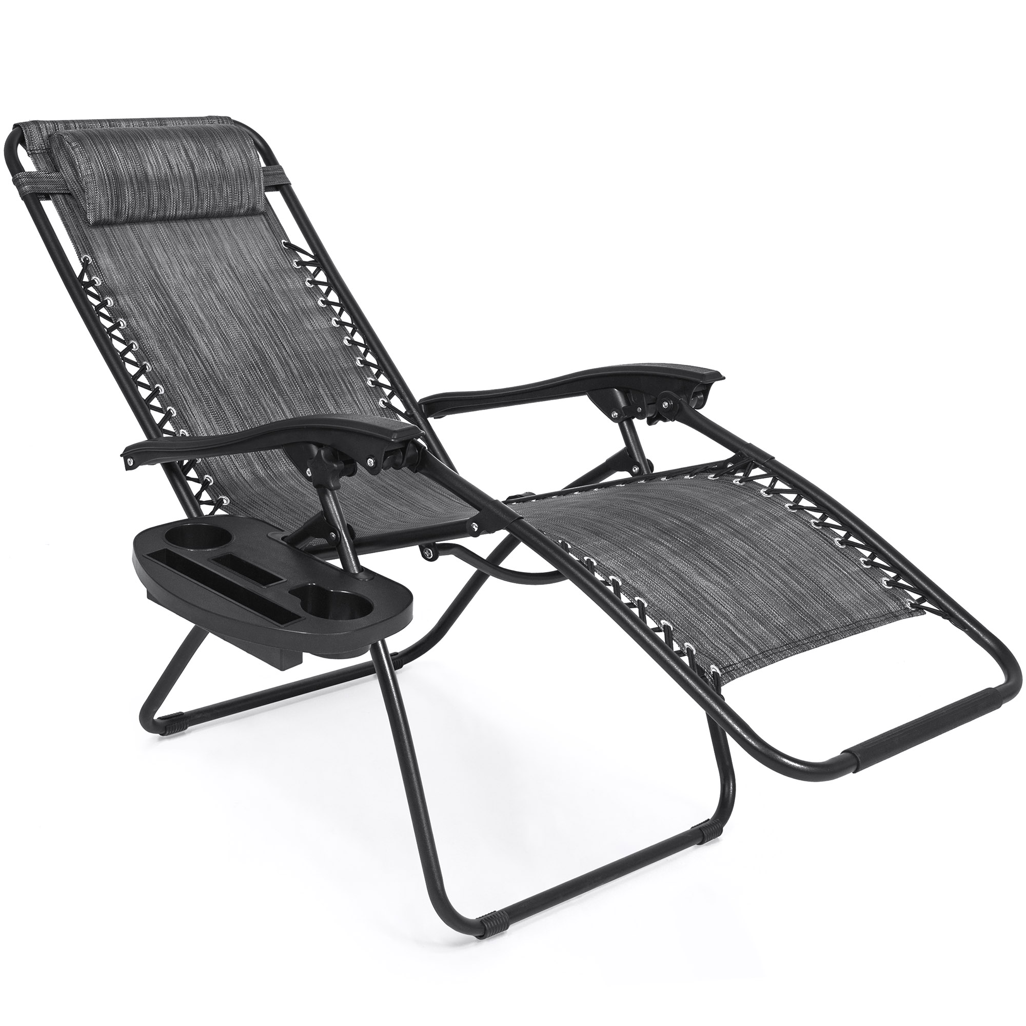 BCP-Set-of-2-Adjustable-Zero-Gravity-Patio-Chair-Recliners-w-Cup-Holders thumbnail 46