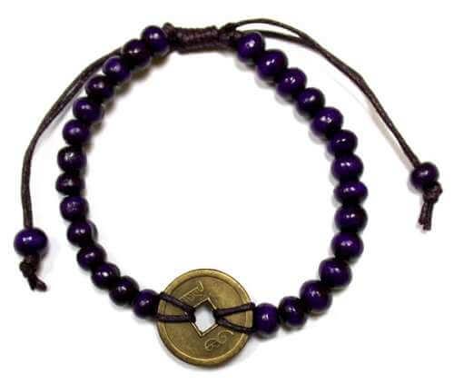 good luck feng shui bracelet - purple