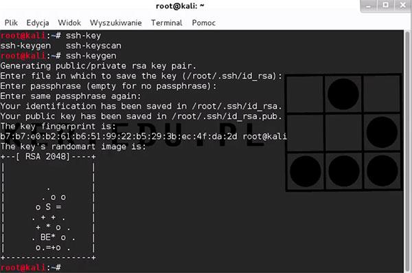 ssh-keygen generowanie publicznego i prywatnego pliku z kluczami RSA