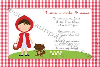 Invitación de cumpleaños de Caperucita Roja