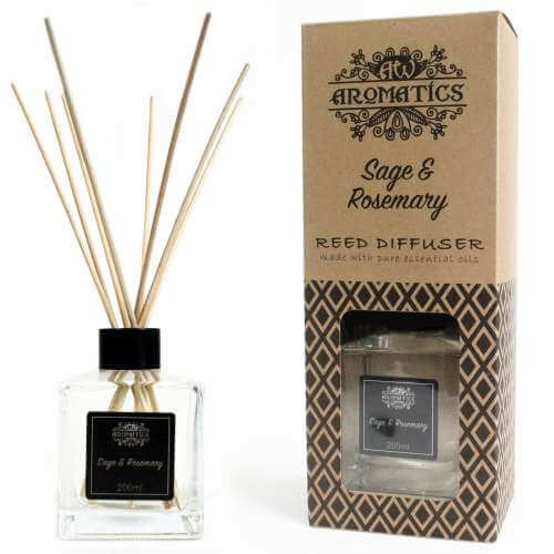 essential oil reed diffuser - sage and rosemary