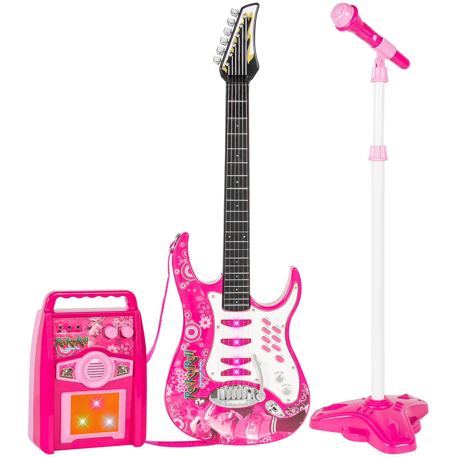 bcp kids electric guitar toy play set w 6 songs microphone amp 691205380594 ebay. Black Bedroom Furniture Sets. Home Design Ideas