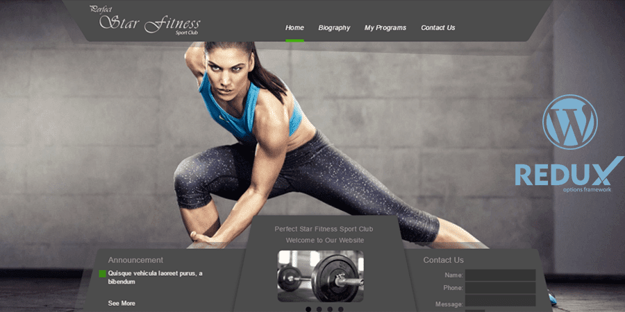 Star Fitness – Simple WordPress Theme