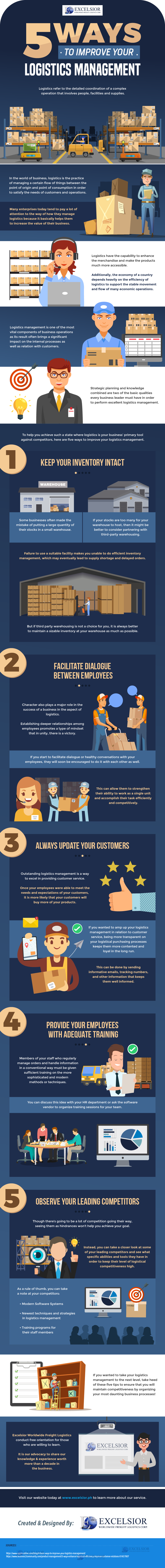 5 Ways to Improve Your Logistics Management - Infographic