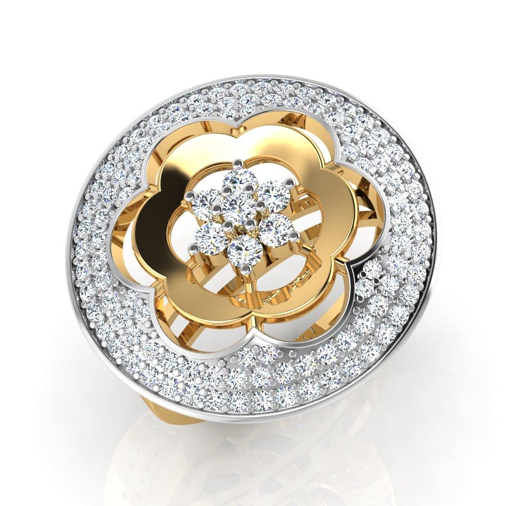The Amber Diamond Ring