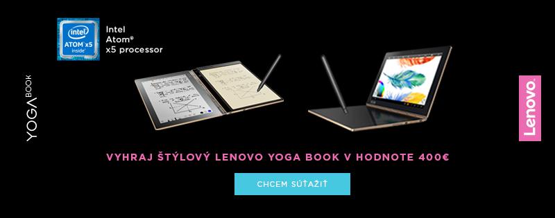 Vyhraj Lenovo Yoga Book!