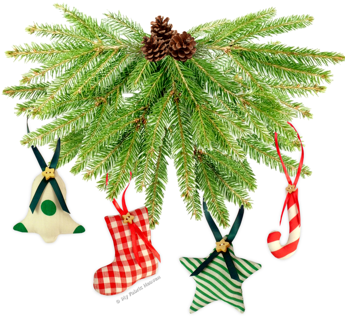 Very easy sewing pattern stuffed fabric christmastree