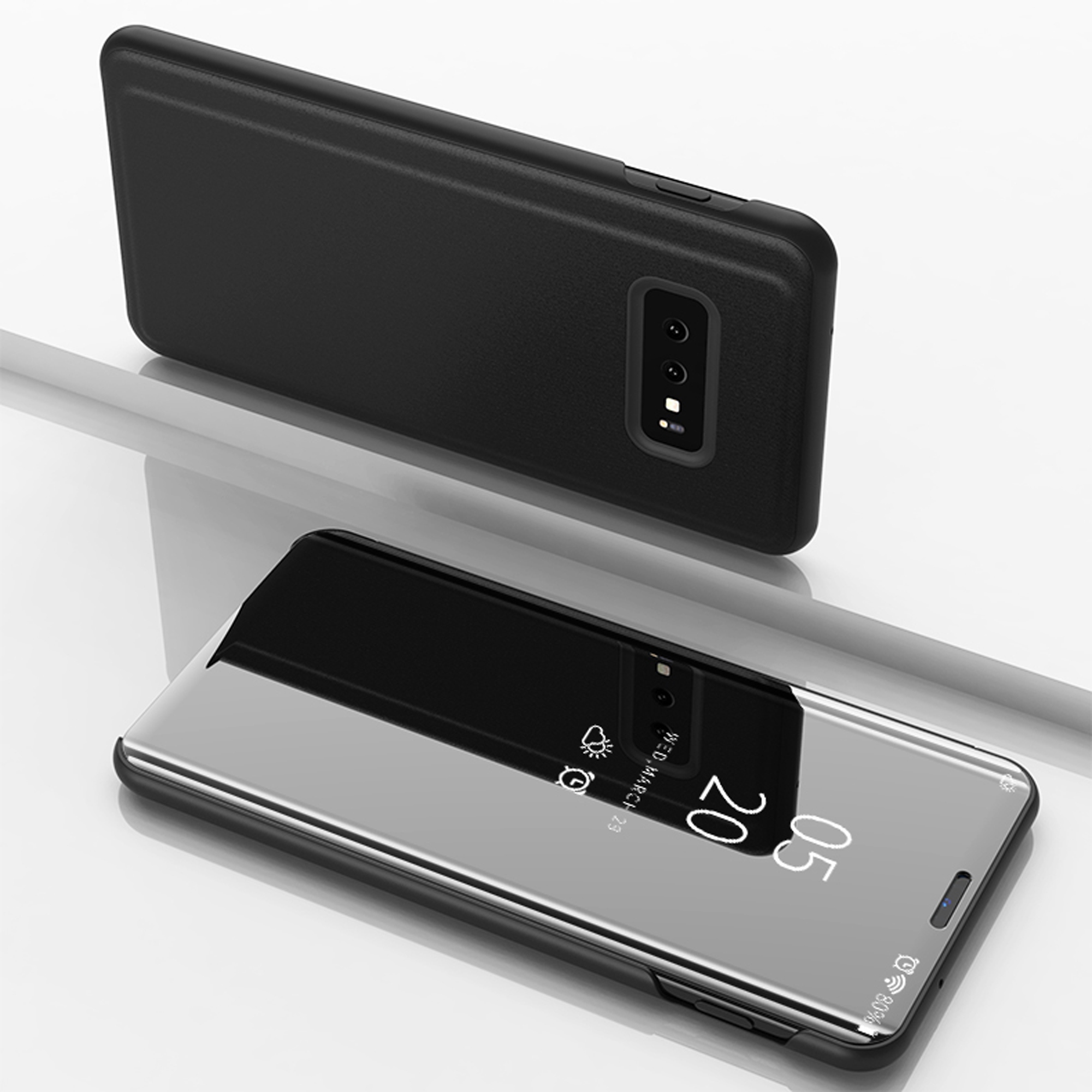 thumbnail 24 - For-Samsung-Galaxy-S9-S10-Plus-Smart-View-Mirror-Leather-Flip-Stand-Case-Cover