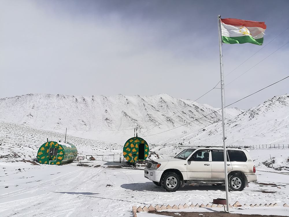 De Tadzjiekse grenspost.