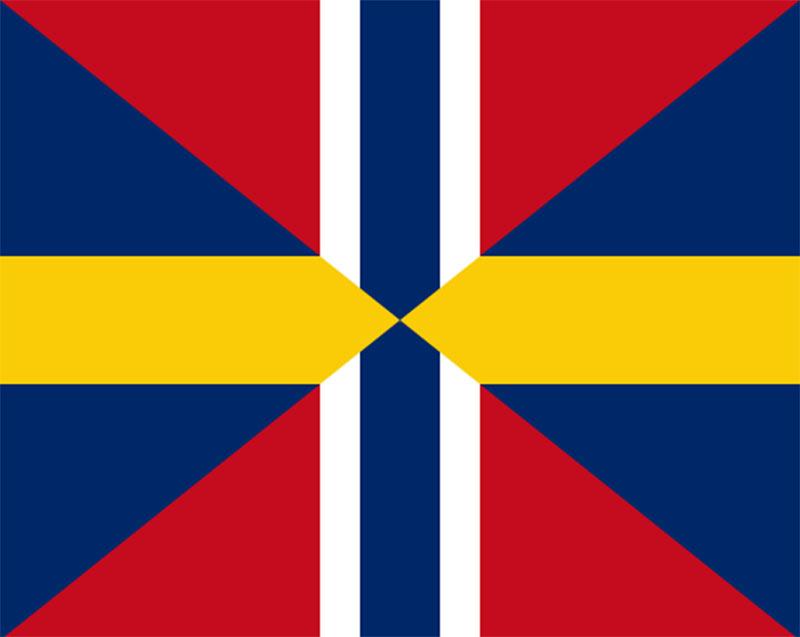 Bandera de la Unión de Suecia y Noruega
