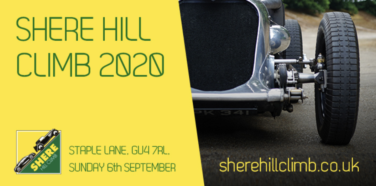 Entries now Open for Shere Hill Climb 2020