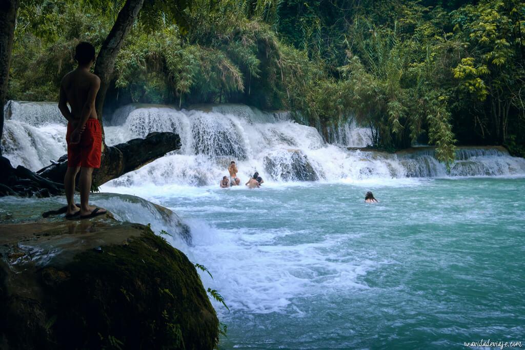 kuang si waterfalls luang prabang