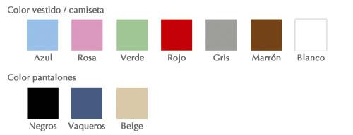 Cómo personalizar tu dibujo, color de la ropa