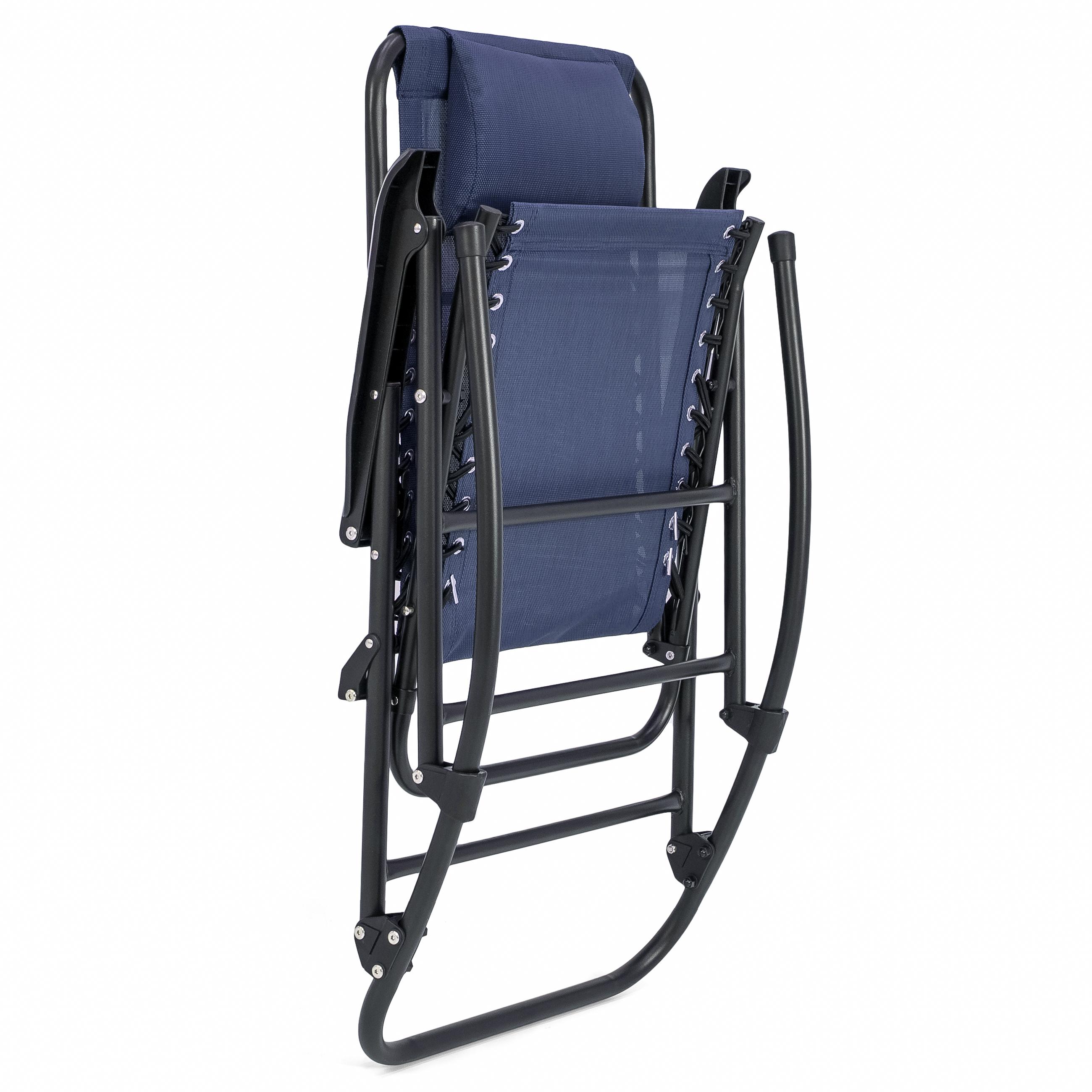BCP-Foldable-Zero-Gravity-Patio-Rocking-Lounge-Chair thumbnail 26