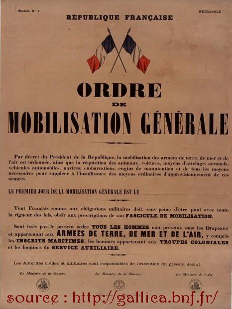 Affiche mobilisation générale