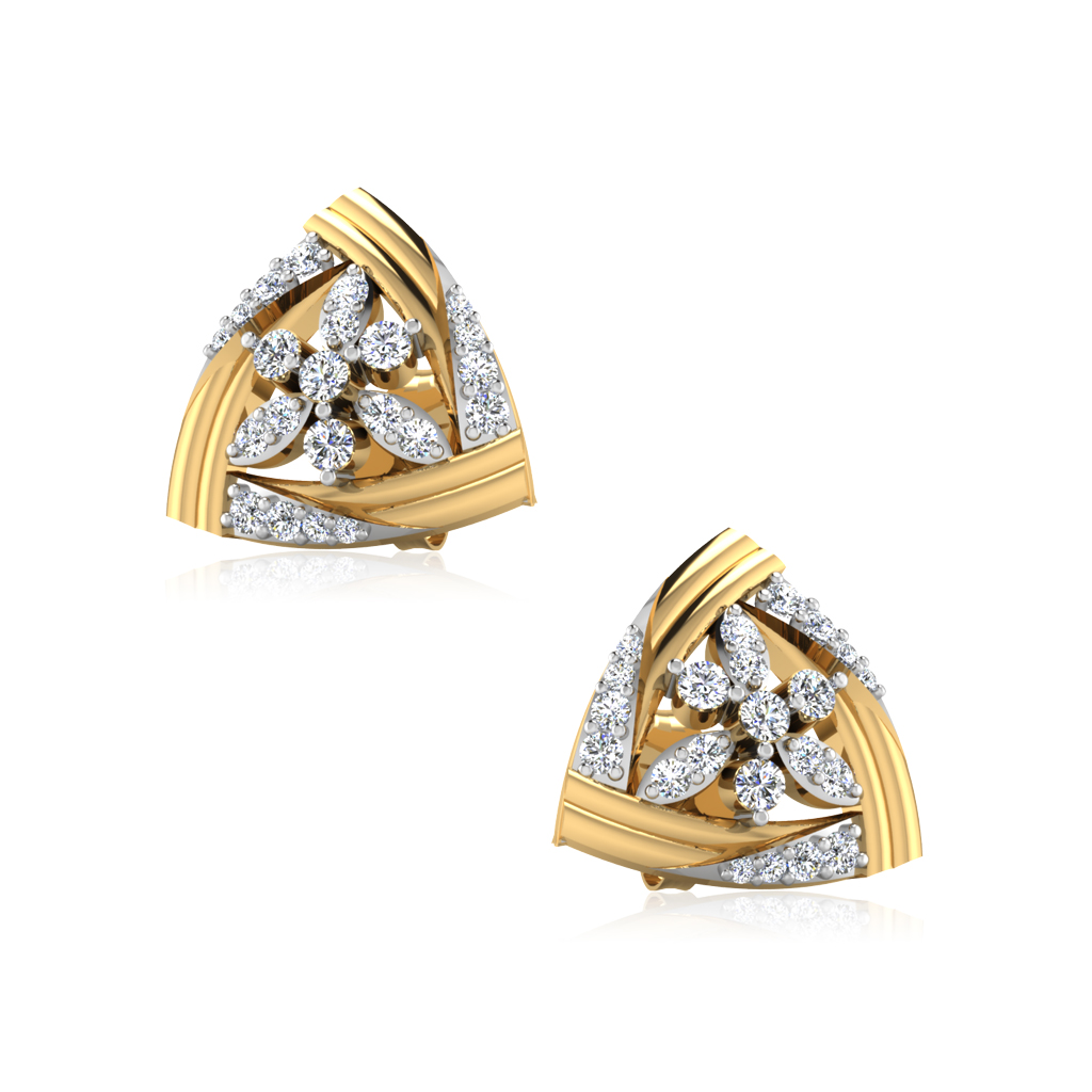 The Aspena Diamond Stud Earrings