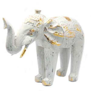 wooden carved elephants