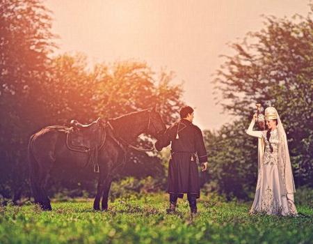 Адыгейские жених и невеста