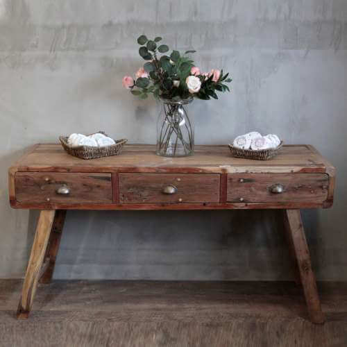 console table - recycled wood