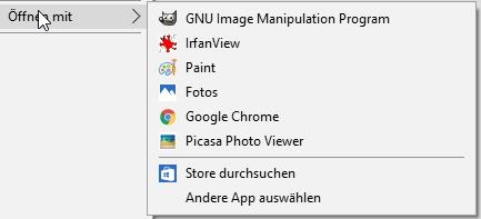 Über den Windows Explorer lassen sich Dateien mit neuen Standard-Programmen verknüpfen.