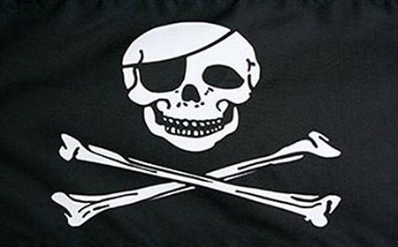 Jolly Roger y las banderas piratas