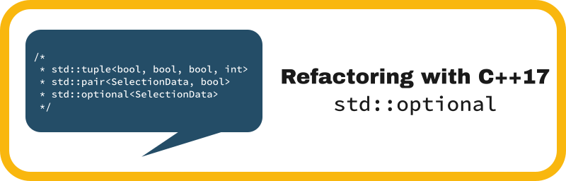 Refactoring with C++17 std::optional