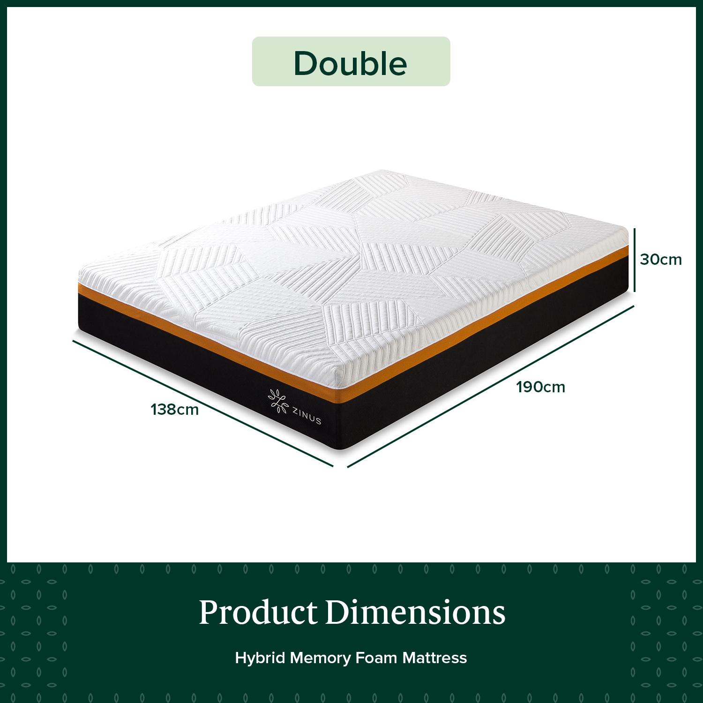thumbnail 101 - Zinus Mattress Queen Double King Single Bed Memory Foam Pocket Spring Hybrid