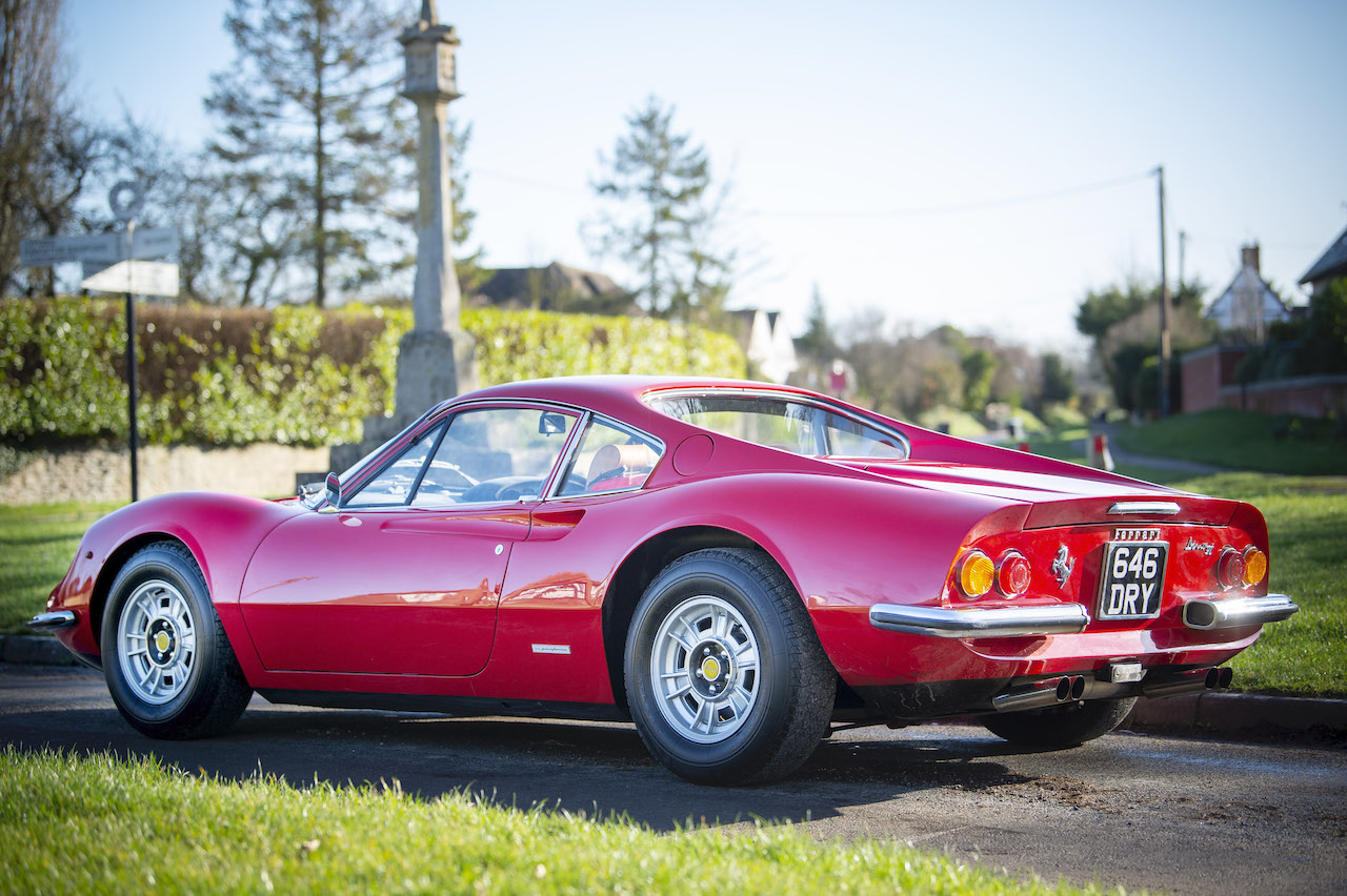 Concours winning 1973 Ferrari 246GT Dino for auction with The Market