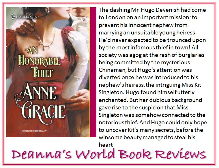 An Honorable Thief by Anne Gracie blurb