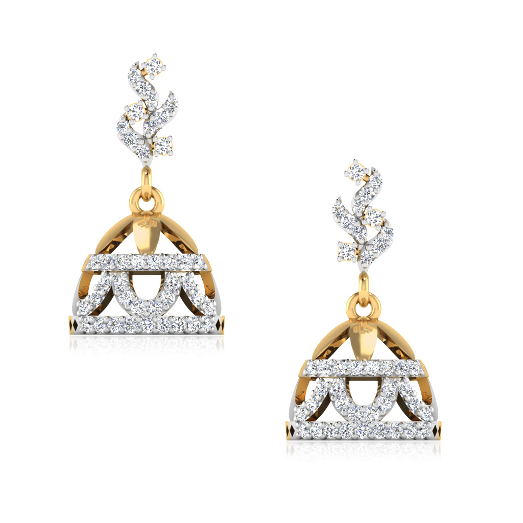 The Hasina Diamond Jhumkas