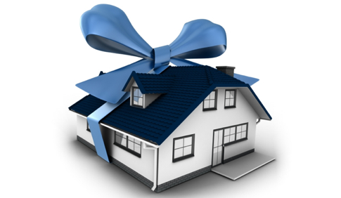 Gift Tax - House with Ribbon