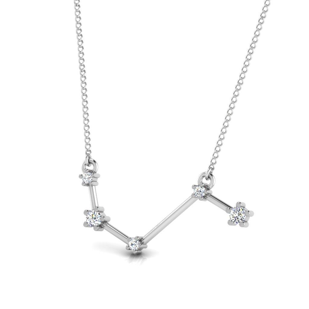 The Aries Zodiac Diamond Pendant