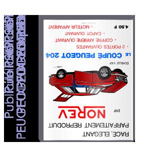 Publicité 1969 PEUGEOT 204 coupé