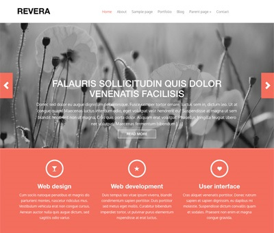 revera - free wordpress theme