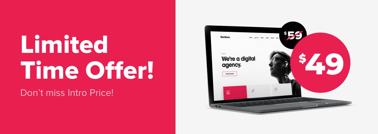 Gentium-une Agence numérique créative thème WordPress-1