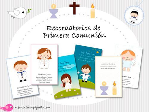 Recordatorios de primera comunión