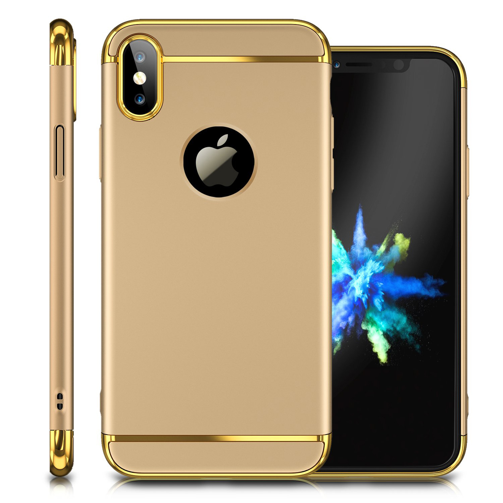 Luxury-Matte-Case-Tempered-Glass-Cover-For-Apple-iPhone-X-XS-XR-Max-10-8-7-6s-6 thumbnail 95