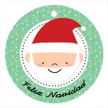 Etiqueta de Navidad Papá Noel