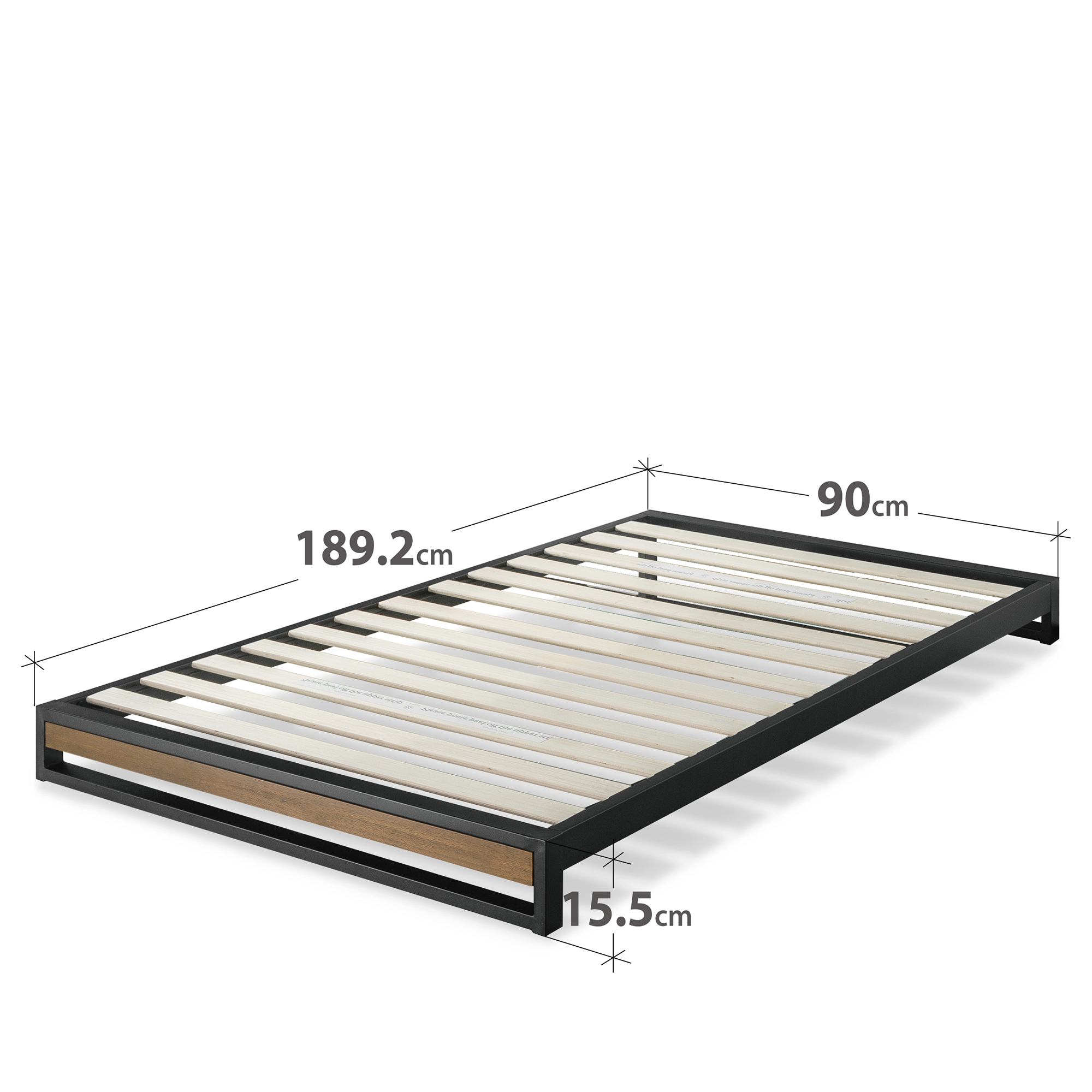 Zinus-Industrial-Metal-Wood-Bed-Frame-Single-Double-Queen-King-Low-Base-Mattress thumbnail 33