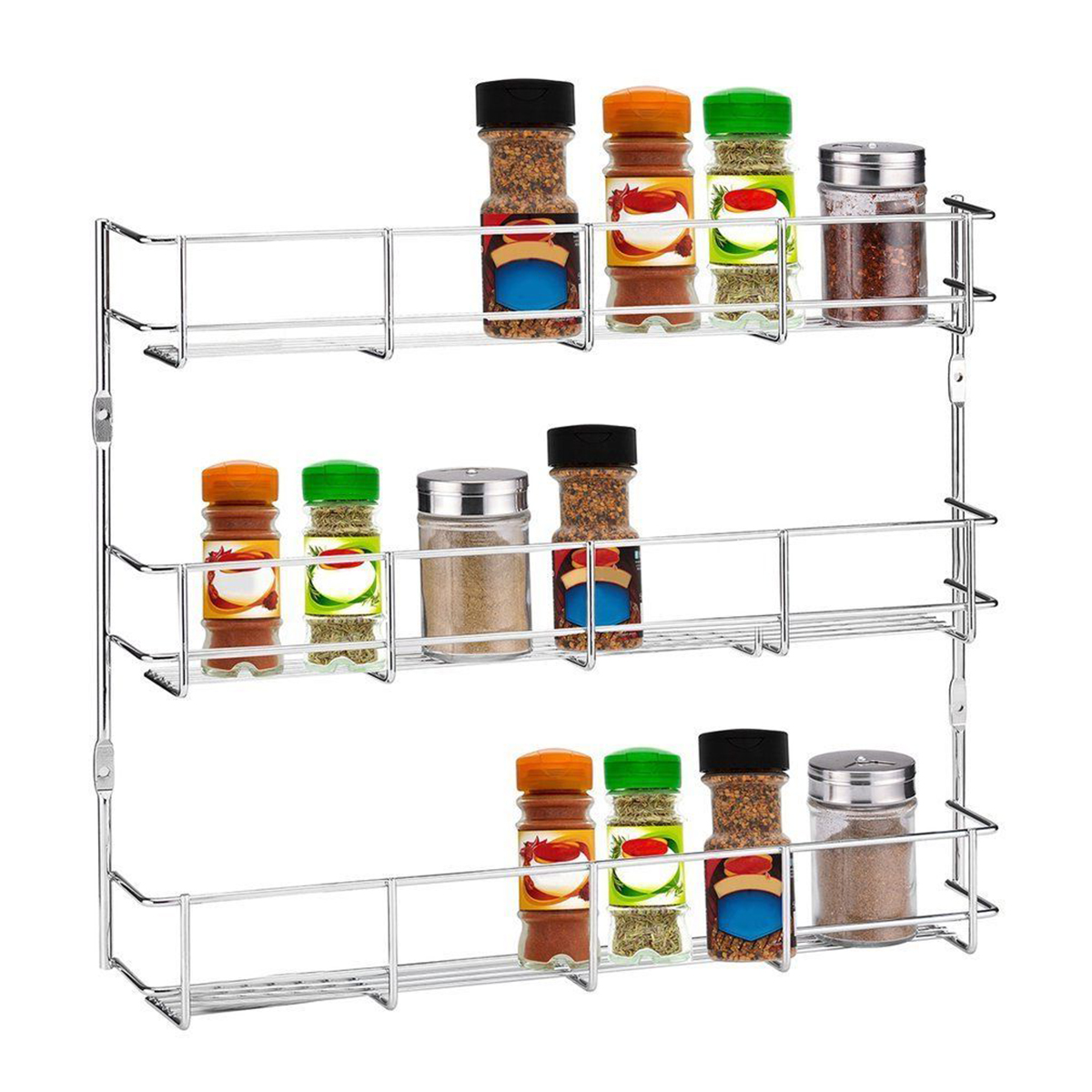 Other Gadgets 3 Tiers Kitchen Spice Rack Cabinet Wall