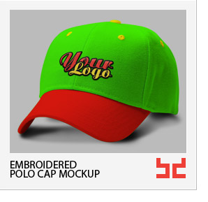 Baseball Cap - Embroidered Logo Mockup - 3