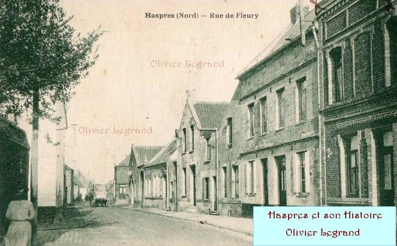 Haspres - La rue de Fleury