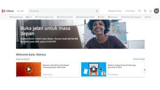 Udemy Tempat Belajar Online
