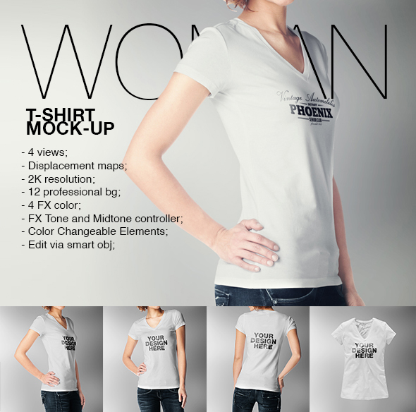 Woman T-Shirt Mock-up