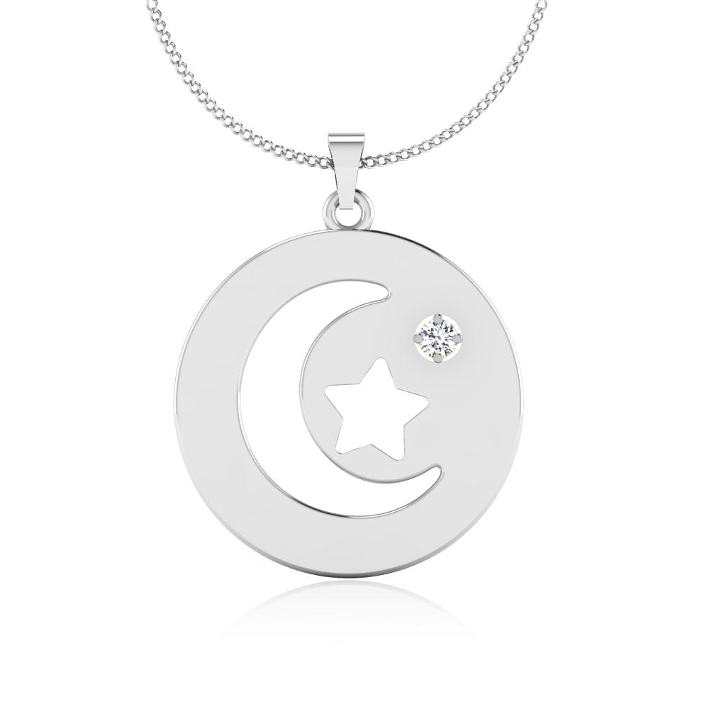 The Dazzling Star Diamond Pendant
