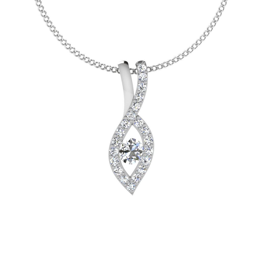 The Tiara Solitaire Pendant